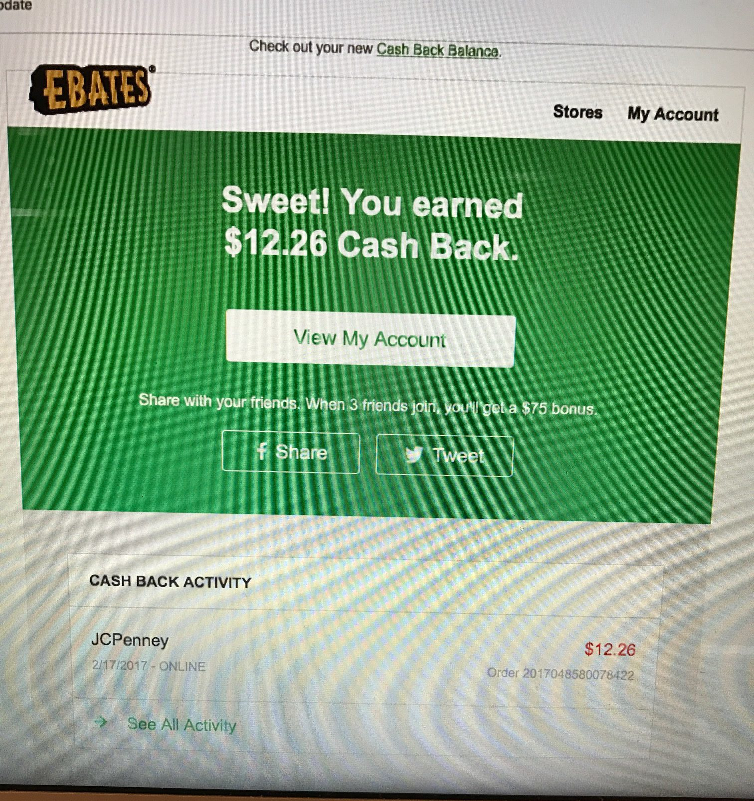 Ebates Email Confirmation
